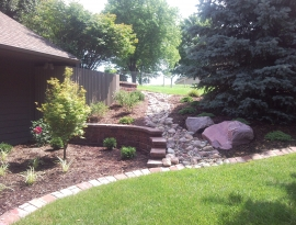 Cobble dry river bed