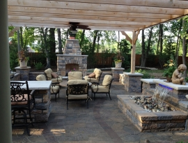 Finished project of patio and walls